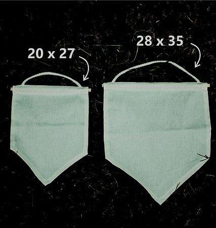 Flâmula Bandeira 20 cm x 27 cm - Sem Estampa