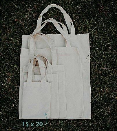 Ecobag 15 cm x 20 cm - Sem Estampa