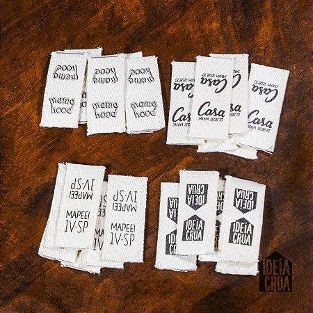 Etiqueta cadarço de algodão cru 25 mm