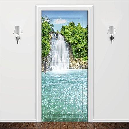 Adesivo para Porta Paisagem Cachoeira
