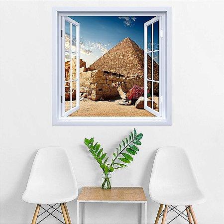 Adesivo de Janela Pirâmides Egípcias