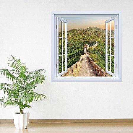 Adesivo de Janela Muralha da China