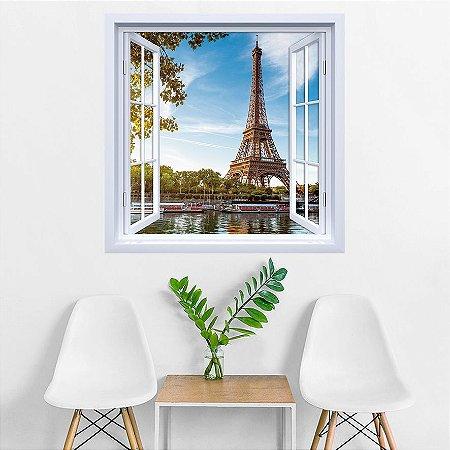 Adesivo de Janela Torre Eiffel Paris