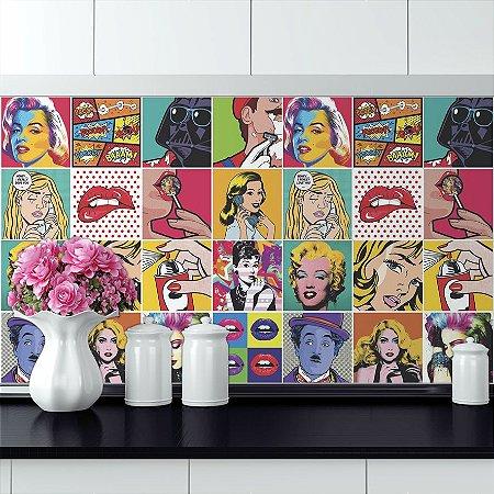 Adesivo Azulejo - Pop Art