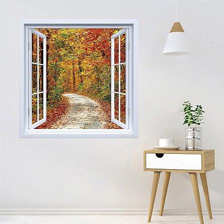 Adesivo de Janela Floresta de Outono