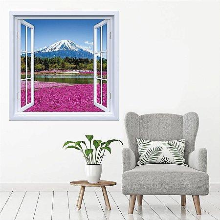 Adesivo de Janela Monte Fuji Japão