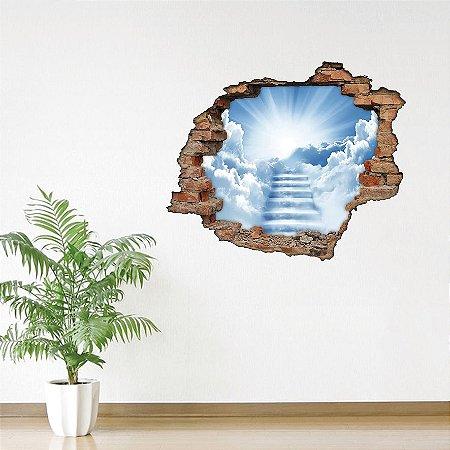 Adesivo Buraco 3D - Escada para o Céu