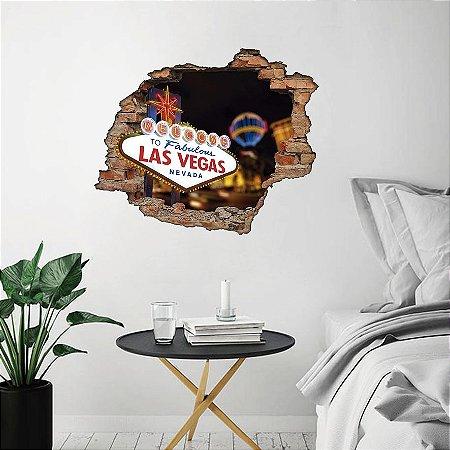 Adesivo Buraco 3D - Las Vegas