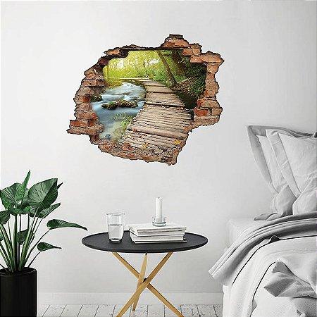 Adesivo Buraco 3D - Beira do Lago