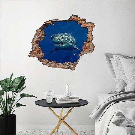 Adesivo Buraco 3D - Tubarão