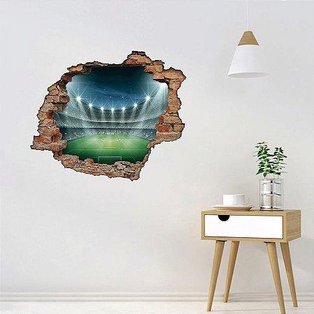 Adesivo Buraco 3D - Estádio de Futebol