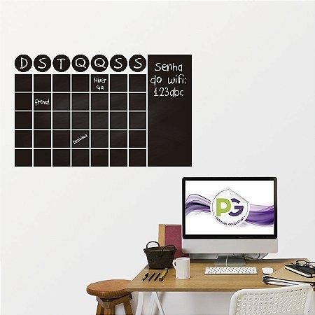 Adesivo De Lousa Formas - Calendario 02