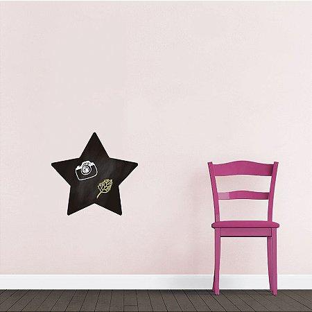 Adesivo De Lousa Formas - Estrela