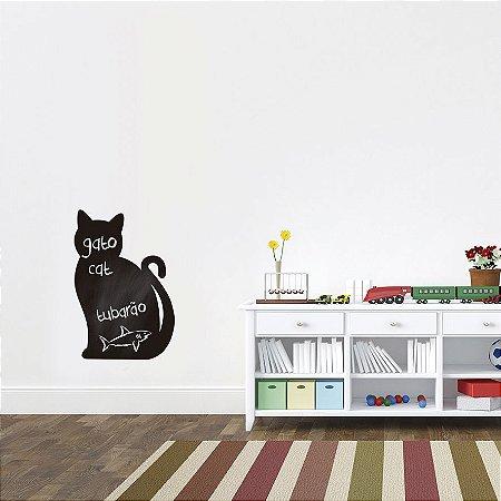 Adesivo De Lousa Formas - Gato