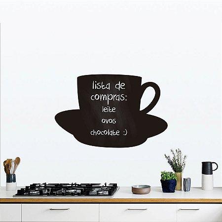Adesivo De Lousa Formas - Xícara de Café