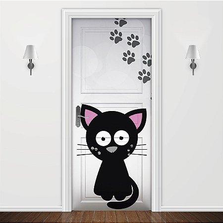 Adesivo para Porta Animais - Gatinho