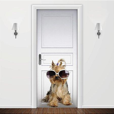 Adesivo para Porta Animais - Cachorrinho YorkShire