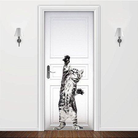 Adesivo para Porta Gatinho Happy