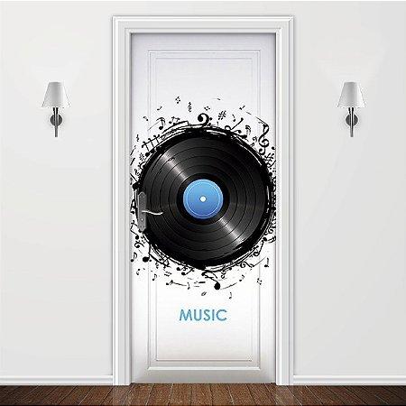 Adesivo para Porta Musica Disco de Vinil