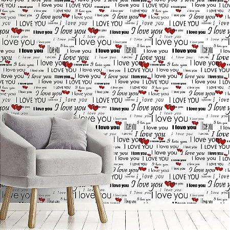Papel de Parede Adesivo I Love you