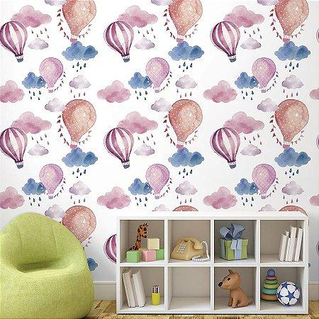 Papel de Parede Adesivo Infantil Balões