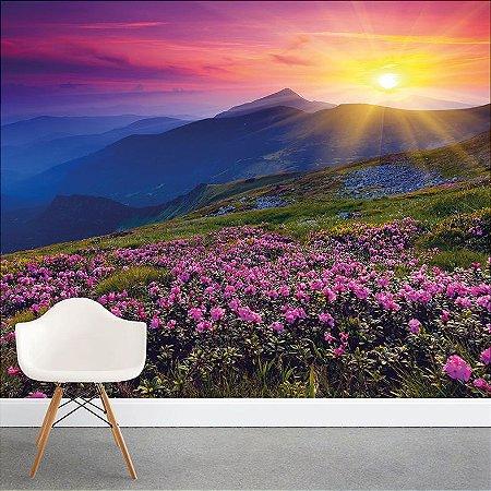 Painel Fotográfico - Campo de Flores