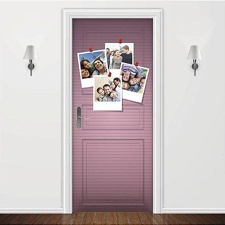 Adesivo para Porta Personalizada Fotos Polaroid