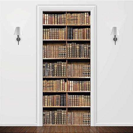 Adesivo para Porta Estante de Livros