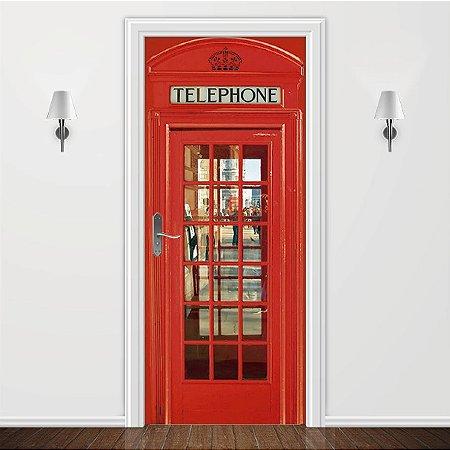 Adesivo para Porta Cabine Telefônica Londres