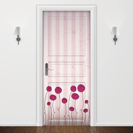 Adesivo para Porta Infantil Rosas