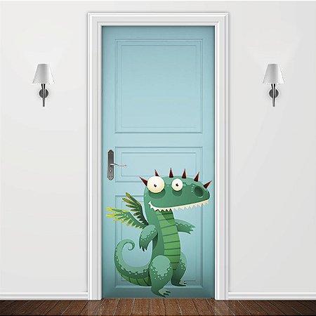 Adesivo para Porta Infantil Dragão Verde