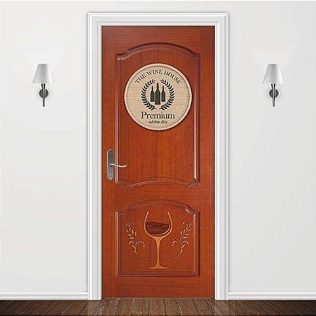 Adesivo para Porta Wine House