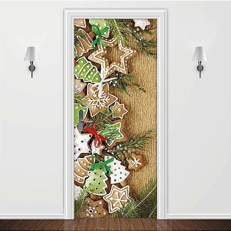 Adesivo para Porta Biscoito de Natal