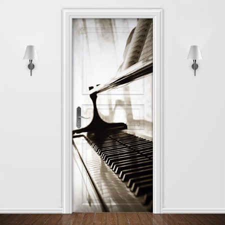 Adesivo para Porta Musica Piano