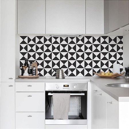 Adesivo Azulejo Miami Black White