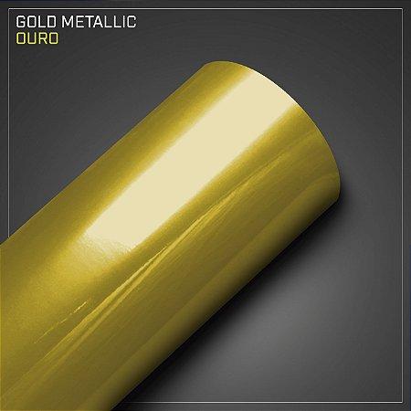 Adesivo Colorido Metálico Ouro