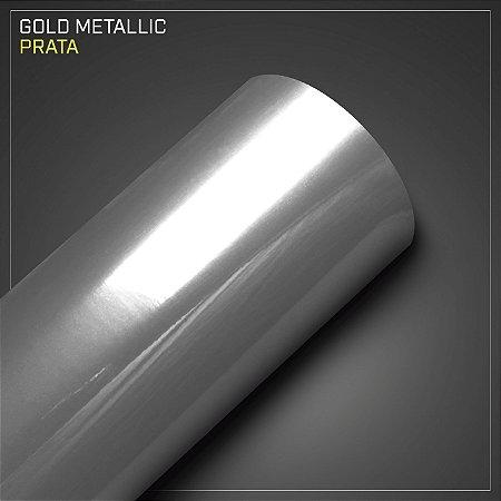 Adesivo Colorido Metálico Prata