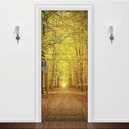 Adesivo para Porta Floresta Outono