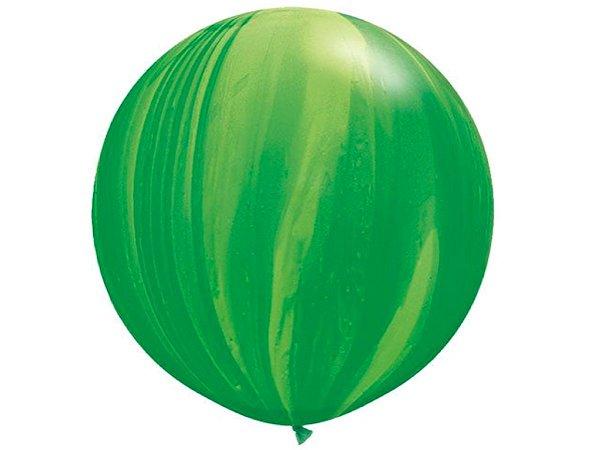 Balão Gigante Marmorizado - Verde (Agate)