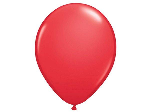 """Balão Látex 16"""" - Vermelho (5 un)"""