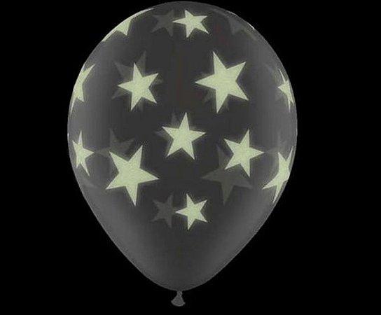 """Balão Halloween Estrelas Brilhantes 11"""" - Glow star"""