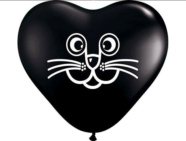 """Balão Halloween Gatinho 6"""""""