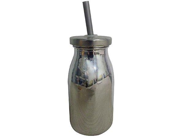Garrafinha Metalizada Prata
