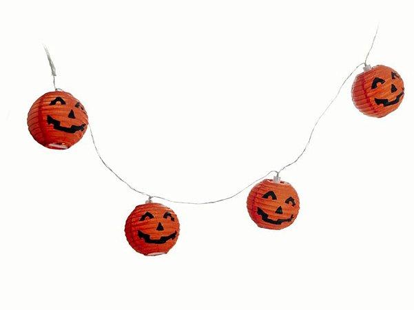 Fio de Luzinhas Abóbora - Enfeite Halloween