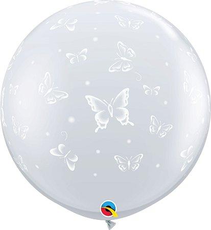 Balão Gigante Transparente de Borboletas
