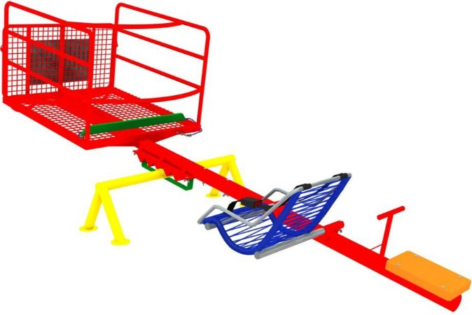 Brinquedo gangorra para cadeira de rodas