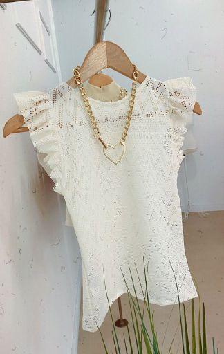 Blusa Renda Off White