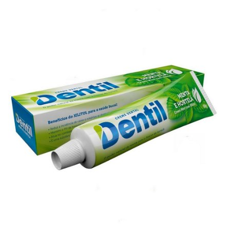 Creme Dental Natural S/ Flúor Menta/Hortelã 90g Dentil