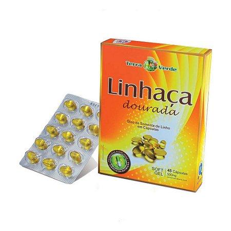 Linhaça Dourada 45 Cápsulas Sanibras Terra Verde 500 mg