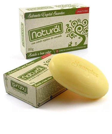 Sabonete Natural Suavetex C Extrato Orgânico Camomila 80 G